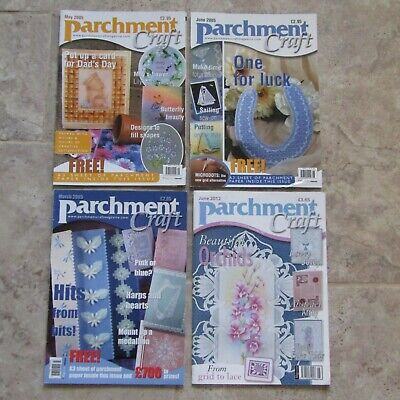 Parchment Craft Job Lot Back Copies 4 Magazines 2005 2012 Grid To Lace Patterns • 6£