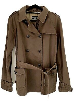AU61 • Buy Massimo Dutti Women's Brown Belted Casual Utility Jacket Coat  Size XL 36