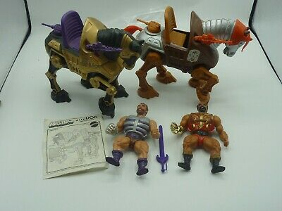 $67.99 • Buy Vintage MOTU Jitsu And Fisto W/Stridor And Night Stalker Near Complete He-Man C4