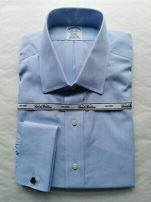 £49.50 • Buy Brooks Brothers Regent Fitted Dress Shirt French Cuff 16.5  Collar 35  Sleeve