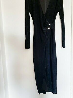 AU33 • Buy Forever New Black Sparkle Dress Size 6