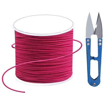 $ CDN14.02 • Buy Elastic Cord With Sewing Scissors,1mm Craft Wire Elastic Stretch String Nyl M6K6