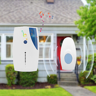 Wireless Door Bell Plug In Chime Loud Long Range Front Cordless Home Office New • 7.59£