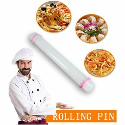 Rolling Pin With Adjustable Guide Rings Pastry Icing Fondant Cake Decorating UK • 7.06£