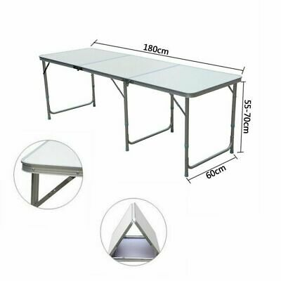 £44.99 • Buy 6FT HEAVY DUTY FOLDING TABLE PORTABLE CAMPING GARDEN PARTY CATERING 180 X 60 Cm
