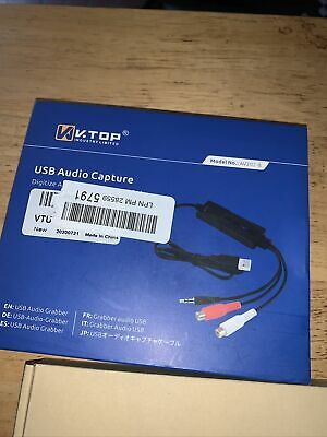 AU30.30 • Buy V.TOP USB - Analog Audio Capture Card Device Compatible For Windows & Mac