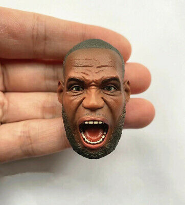 "$37.77 • Buy 1/6 LeBron James Angry Face Head Sculpt NBA For 12"" Enterbay Hot Toys Phicen Toy"