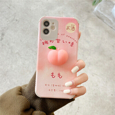 AU11.37 • Buy Funny 3D Peach Squishy Phone Case Shockproof Cover For IPhone 12 Pro Max 11 X 8