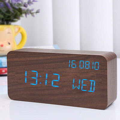 Digital LED Large Display Alarm Clock USB/Battery Operated Voice Control Clock • 17.15£