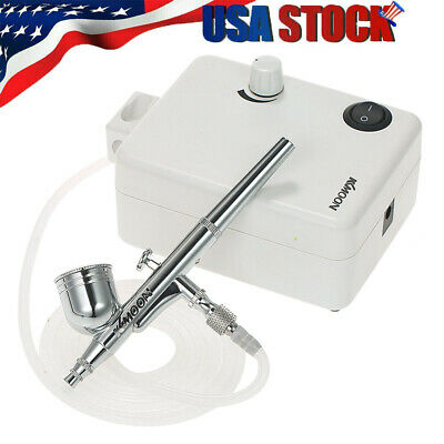 $47.55 • Buy Starter Mini Airbrush Kit Dual Action Gravity Feed Air Compressor Craft Art E5H9