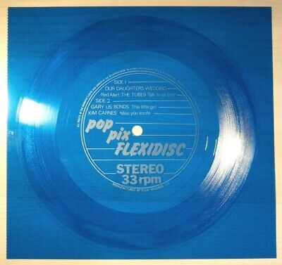 £10 • Buy Red Alert  Our Daughter's Wedding  +3 Other Tracks (1981) Blue Flexi-disc MINT-.