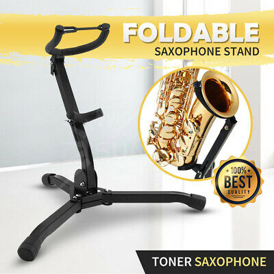 AU26.88 • Buy Folding Saxophone Tripod Stand Holder Sax Alto Tenor Portable Musical Instrument
