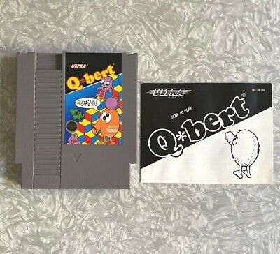 $ CDN29.04 • Buy NES Q*Bert W/ Original Manual Nintendo Cartridge Clean & TESTED Excellent! Qbert