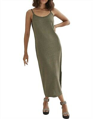 AU39 • Buy COUNTRY ROAD LINEN BLEND SLIP  DRESS In Sage RRP$119