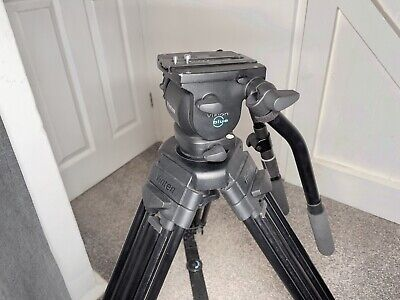 Vinten Vision Blue Tripod With Dual Pan Bars And Manfrotto Carry Bag • 599£