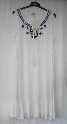 £14.50 • Buy Ladies Marks And Spencer Ivory Beachwear Dress With Embroidered Neckline Size 14