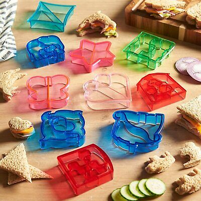 VonShef 10 Pcs Sandwich Cookie & Vegetable Cutter Set 9000032 • 8.99£