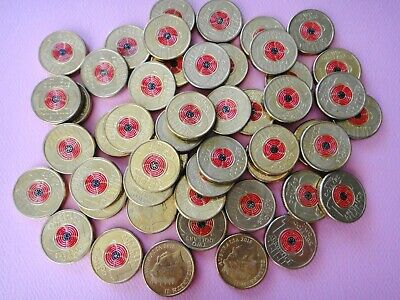 AU12.99 • Buy Australia 2018 $2 Dollar REMEMBRANCE DAY ARMISTICE RED POPPY  1x Coin Circulated