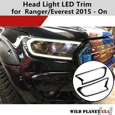 AU72.45 • Buy White LED Front Head Light Lamp Cover Trim Fit Ford Ranger PX2 PX3/Everest 15-20