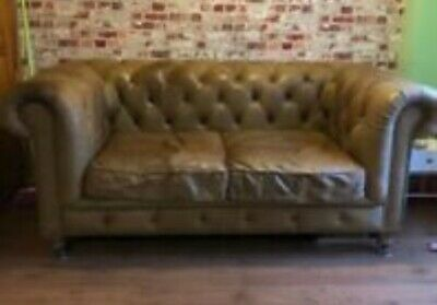 Halo Living / Timothy Oulton 'Asquith' Aniline Leather Chesterfield Sofa  • 750£