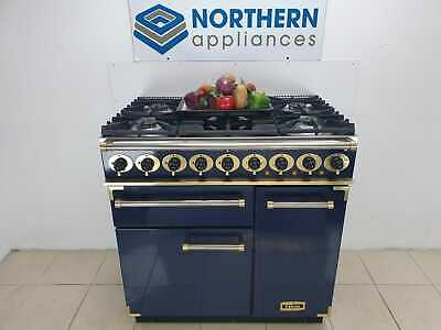 Falcon Range Cooker Dual Fuel 90cm In Good Order Steam Cleaned Blue Brass • 1,399£