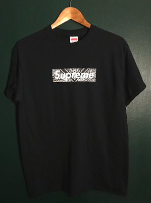 $ CDN100.80 • Buy Supreme Bandana Box Logo Tee Shirt XXL - BLK RED YELLOW BLUE