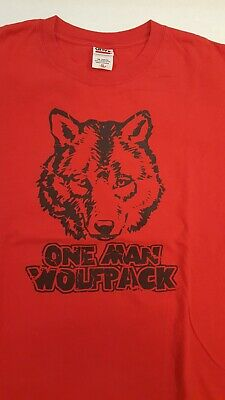 £13.05 • Buy ONE MAN WOLF PACK Funny The Hangover WCW NWO Alan Wolfpack T-Shirt