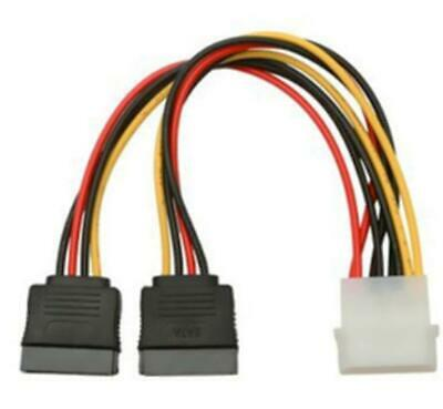 AU2.60 • Buy 4 Pin IDE Molex To 2 X Dual SATA Power Cable Y Splitter Female HDD CD Adapter