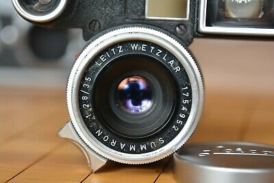 Leica Summaron 35mm F2.8 With Goggles + Lens Hood + Front & Rear Lens Cap • 560£