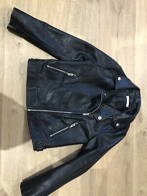 Blue Zoo Debenhams Girl Leather Jacket Age 9 • 8.50£