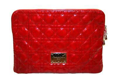 £30 • Buy Claudia Canova Womens Red Quilted Patent Look Clutch Bag Purse