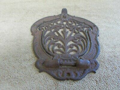 $147.25 • Buy Vintage Cast Iron Mail Box Door Wall Mount Ornate Parts Architectural Salvage