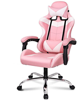 AU137.75 • Buy Pink Professional Ergonomic PU Leather Gaming Chair