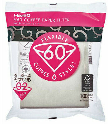 AU19.95 • Buy Hario V60 Coffee Filter Paper 02 Size - 100 Pack Pour Over O2 Drip