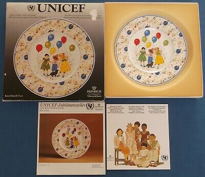 VILLEROY & BOCH UNICEF A WORLD FOR CHILDREN 40th ANNIVERSARY CHINA PLATE BOXED • 24.99£