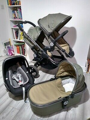 Icandy Peach 4 Blossom/Double/Twin In OLIVE Travel System • 599.75£