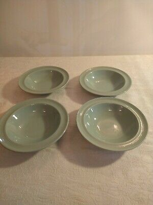 Vintage Woods Ware Beryl Green Soup/pudding Bowls 9  X 4 • 17.99£