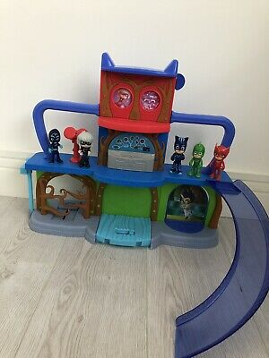 PJ Masks Headquarters Playset Sounds Lights And 5 Figures • 10.50£