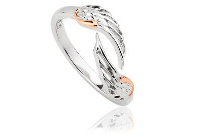 NEW Official Welsh Clogau Silver & Rose Gold Seraphina Ring £20 Off! SIZE P • 69£