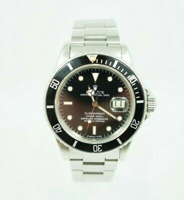 $ CDN10193.60 • Buy Fully Complete Vintage Rolex Submariner Stainless Steel Black Dial 16800 1 Owner