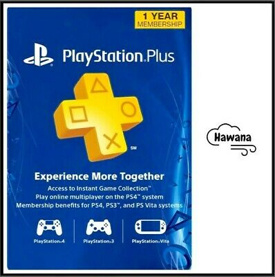 $ CDN51.57 • Buy Sony PlayStation Plus PS 12 Month / 1 Year Membership Subscription – USA