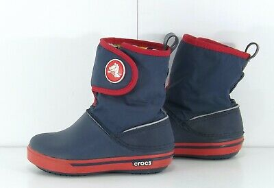 CROCS Navy Red Boys Girls Snow Boots Size UK 6 USA 7 EUR 23 • 4.99£