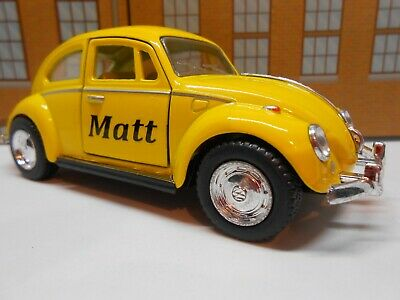 VW BEETLE PERSONALISED *ANY* NAME Toy Car MODEL Boy Dad Mom Sister BIRTHDAY GIFT • 8.95£