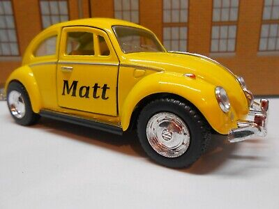 £8.95 • Buy VW BEETLE PERSONALISED *ANY* NAME Toy Car MODEL Boy Dad Mom Sister BIRTHDAY GIFT