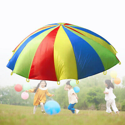Kids Play Rainbow Parachute Children Outdoor Game Exercise Sport Toys Christmas • 12.99£