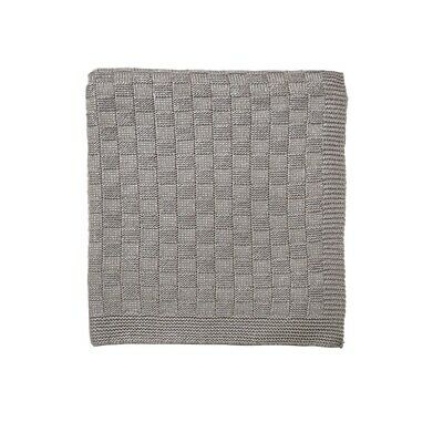 Blue Hotel Natural Acrylic Cashmere Saryn Knit Throw Blanket, Silver Grey Peacoc • 29.97£
