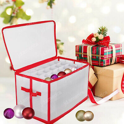 Xmas Bauble Decorations Storage Box Holds Up To 112 Tree Ornament Balls Holiday • 7.99£