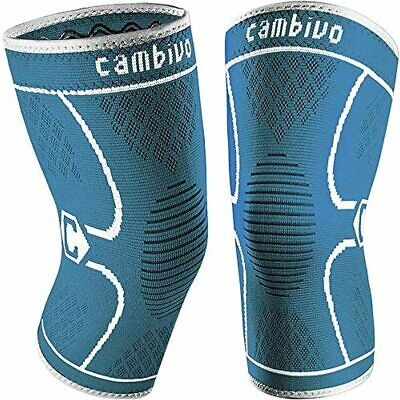 $14.43 • Buy CAMBIVO 2 Pack Knee Brace, Knee Compression Sleeve Support For Men And Women, Ru