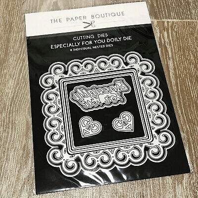 BN The Paper Boutique Cutting Dies Especially For You Doily Die Set Sentiments • 12.99£
