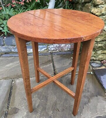 Mid Century 1960s Poul Hundevad Style G Plan Small Folding Round Teak Side Table • 29£